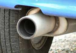 car exhaust, source of CO2 emissions