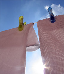 Washing hanging on the line