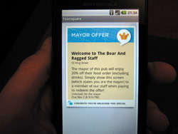 Foursquare Mayor Offer